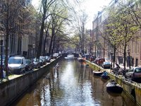 One of Amsterdam's beautiful canals.  Click to enlarge.