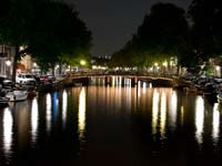 Amsterdam's canals by night. Click to enlarge.