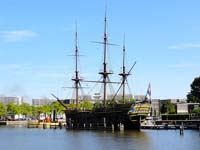 The Amsterdam, moored outside the Scheepvaartmuseum.