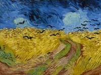 Van Gogh's Wheatfields with Crows.  Click to enlarge image.