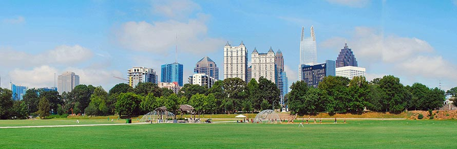 Panorama of Piedmont Park (© David Cole, CC-BY-SA 3.0)