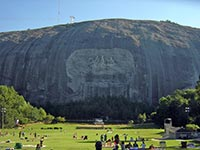 Stone Mountain, Atlanta, boasts the world's largest piece of granite