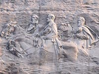Carvings to commemmorate Union leaders on Stone Mountain