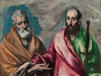 El Greco's Saint Peter and Saint Paul at the National Art Museum of Catalonia