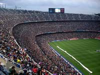 A packed Nou Camp stadium on match day