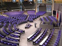 The German parliament chamber (© Times, CC BY-SA 3.0)