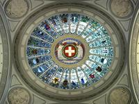 The dome at the centre of Bern's Federal Palace.