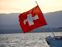 Switzerland is one of the only countries to have a square flag