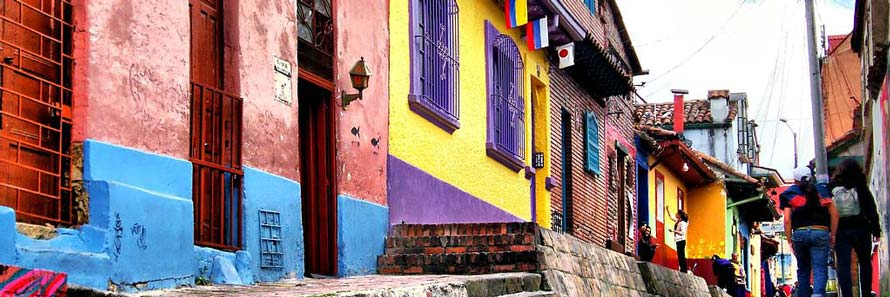 Bogota's colourful houses