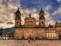 Bogota's main cathedral is on the eastern side of Bolivar Square