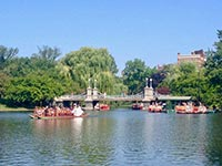 Boston Common's boating lake