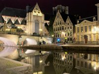 Ghent at night (© Jesus Solana, distributed under a CCA2.0 Generic licence).