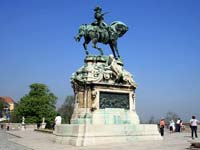 The Prince Eugene monument in the grounds of Buda Castle
