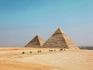The pyramids of Giza is the oldest of the Seven Wonders