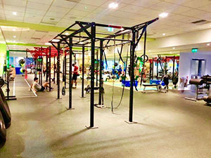 The functional training area at the Third Space, Canary Wharf