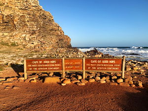 Sign at the Cape of Good Hope in Cape Town