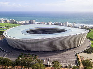 Aerial view of the Cape Town Stadium