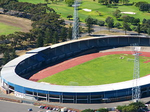 Aerial view of the old Green Point Stadium