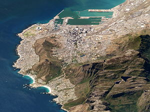 Satellite image of Table Mountain