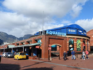 Looking south at the Two Oceans aquarium
