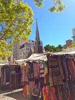 Greenmarket Square, in the centre of Cape Town's city bowl.