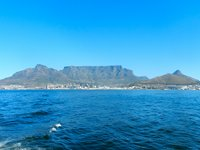 The stunning Table Mountain, overlooking Cape Town.