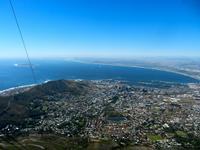 Cape Town, as seen from the Table Mountain cable car.