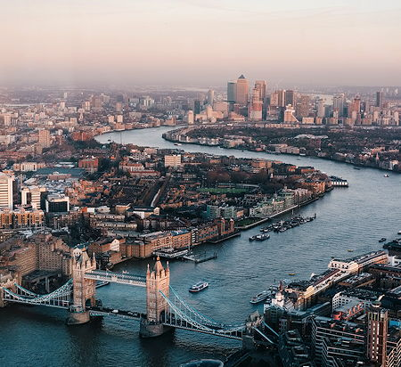 Aerial photography of the London skyline during daytime