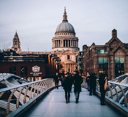 St. Paul's Cathedral seen from the Millennium Bridge