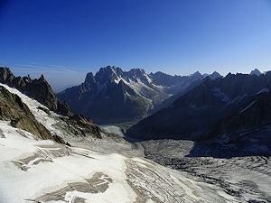 The Mer de Glace, Mont Blanc in France