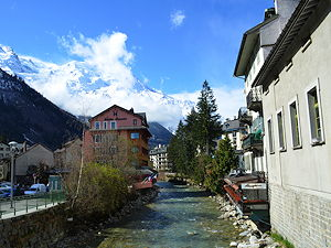 Chamonix is picturesque resort in the French Alps with beautiful mountains