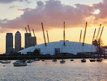 The O2 Arena in East London