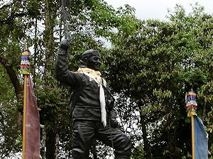 The Statue of Norgay at the Himalayan Mountaineering Institute