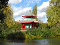 The new Japanese Pagoda in Victoria Park