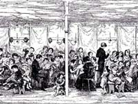 A Victorian era print of the original Ragged School