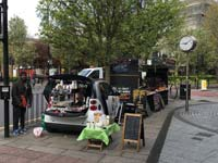 A coffee stall on Roman Road Market