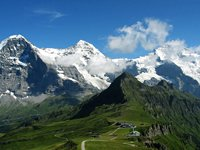 The triumverate of the Eiger, Monch and Jungfrau