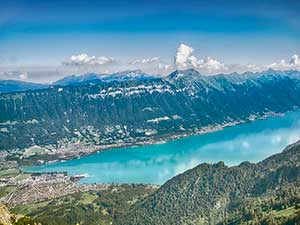 The beautiful Lake Brienz, Interlaken.