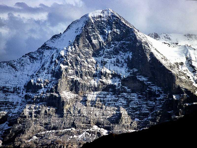 The Eiger's vertical north face