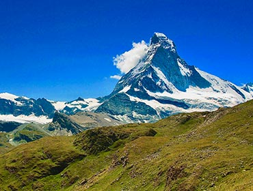 The postcard-perfect Matterhorn towers over Zermatt