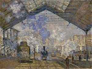 Monet's Gare Saint Lazare, shown at the third impressionist exhibition held in 1877.