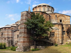 A rear view of Chora Church in Istanbul