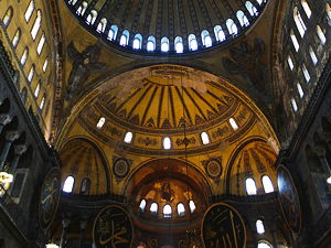 The vaulting of the nave of Hagia Sophia (© Steve Evans, CC BY 2.0)