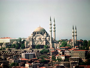 View of the Süleymaniye mosque from Galata Tower (© Jpbazard, CC BY-SA 3.0)