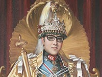 A portrait of King Birendra
