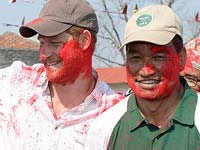 Prince Harry celebrating Holi in Nepal in March 2016