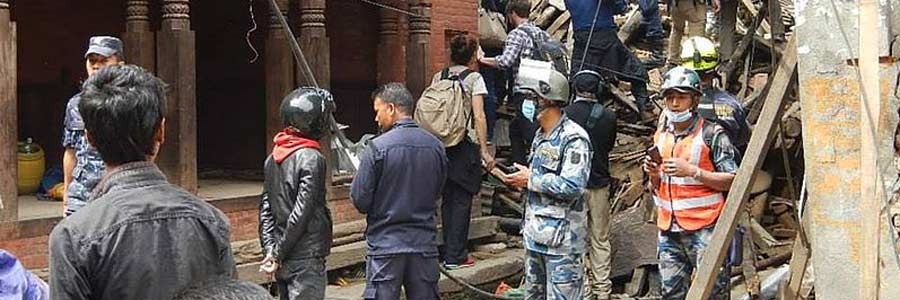 Rescue efforts after the Nepal earthquake