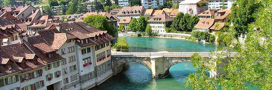 The River Aare, running through Bern's Old Town