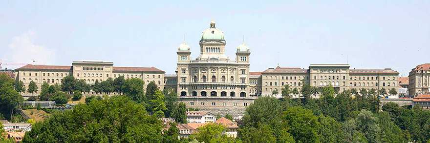 Bern's Federal Parliament (© Mike Lehmann, CC-BY-SA 3.0).