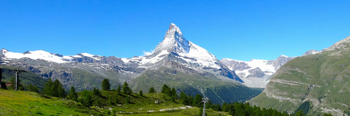 Attractions in Zermatt, Switzerland.